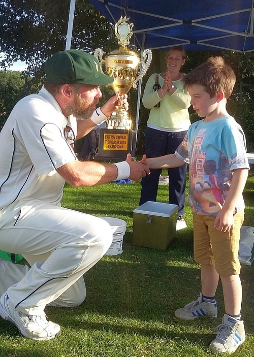 Captain Dom Jones receives the coveted trophy