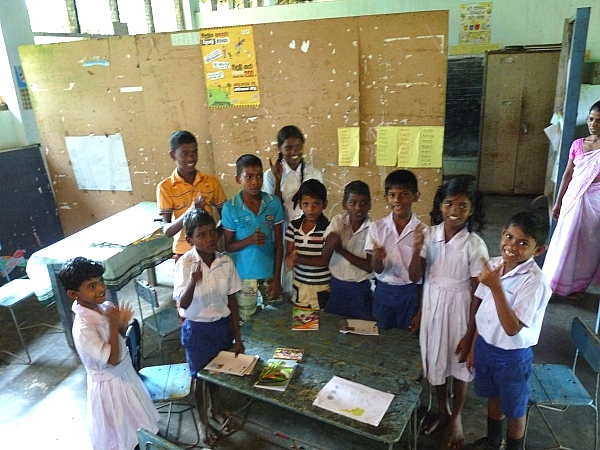 The pupils of Kumburuhena